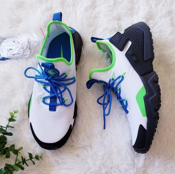 official photos classic fit newest Nike huarache drift blue green sneakers AH7334-102